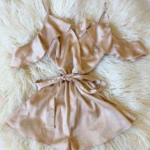 Urban Outfitters Champagne Romper